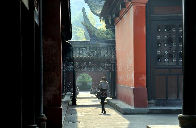 chengdu wenshu porcelanowy świątynny fotografia stock