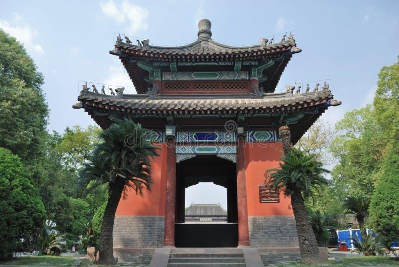Chengdu Wuhou tempelmuseum royaltyfria bilder