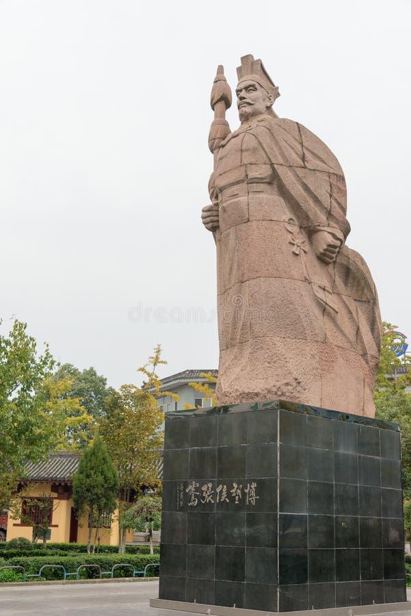 CHENGGU, CHINA - 8 NOV. 2014: Standbeeld van Zhang Qian, Chenggu, Hanz royalty-vrije stock afbeeldingen