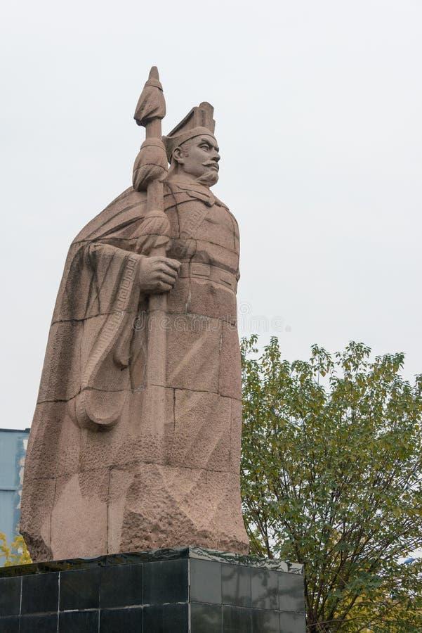 CHENGGU, CHINA - NOV 8 2014: Statue of Zhang Qian, Chenggu, Hanzhong, Shanxi, China. Zhang Qian(?-114 BCE) was a famous Explorer royalty free stock photos