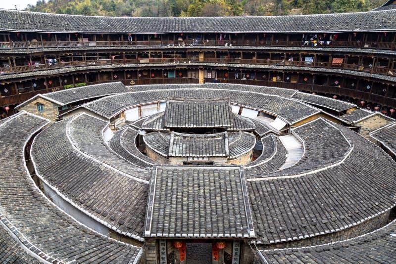 Chengqi Lou στη συστάδα Gaobei, επαρχία Κίνα Fujian στοκ φωτογραφία με δικαίωμα ελεύθερης χρήσης