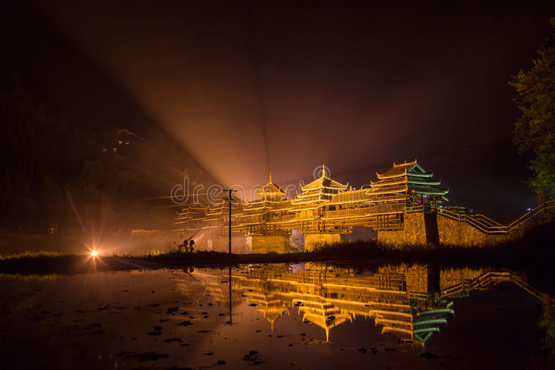 Chengyang Wind-Rain Bridge, Guangxi Zhuang Autonomous Region. China royalty free stock photo