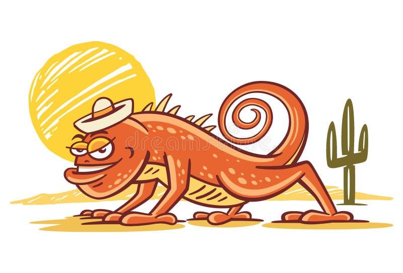 Chenille de désert d'iguane illustration de vecteur