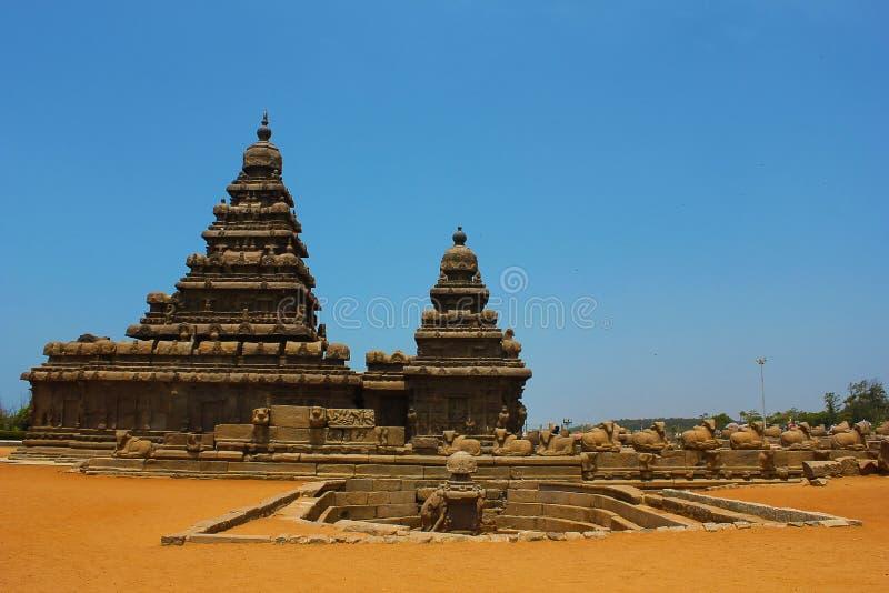 chennai印度mahabalipuram岸寺庙 库存照片