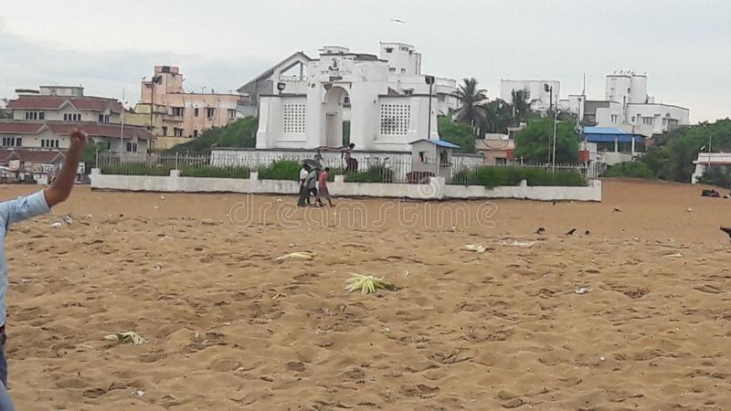 Chennai Beach stock image