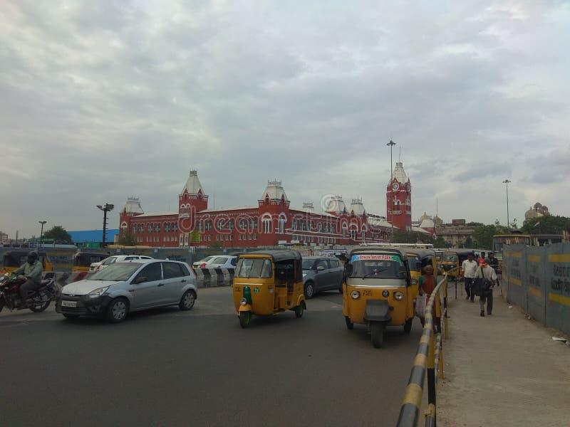 Chennai centrali stacja kolejowa obraz royalty free