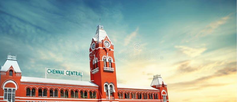 Chennai centrali stacja kolejowa obraz stock