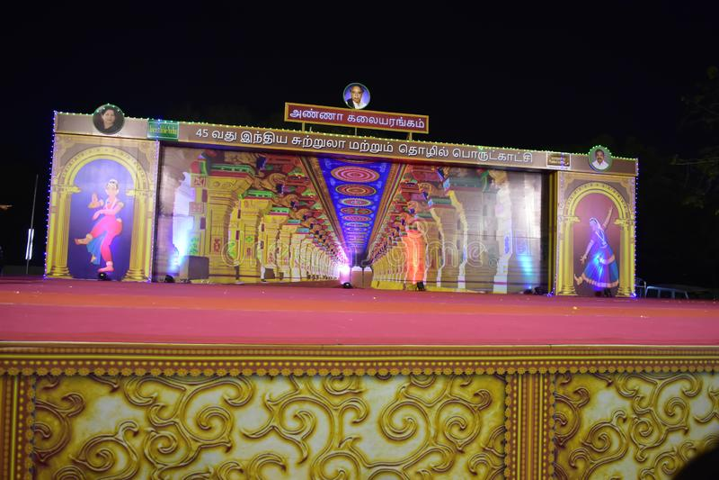 Chennai, Tamilnadu, India - Januari 20, 2019: Arignar Anna Arangam stock foto