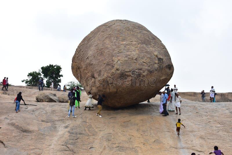 09, 2018: Chennai Tamilnadu, India, Wrzesień - Krishna masła Balowy boczny widok zdjęcia royalty free