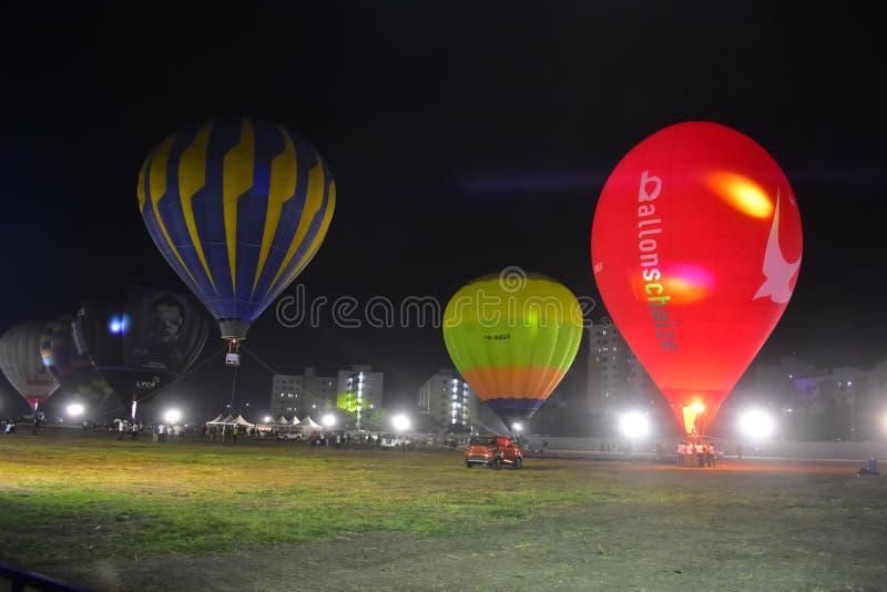 Chennai, Tamilnadu - Indien, am 6. Januar 2019: Heißluft Ballon-Festival lizenzfreies stockfoto