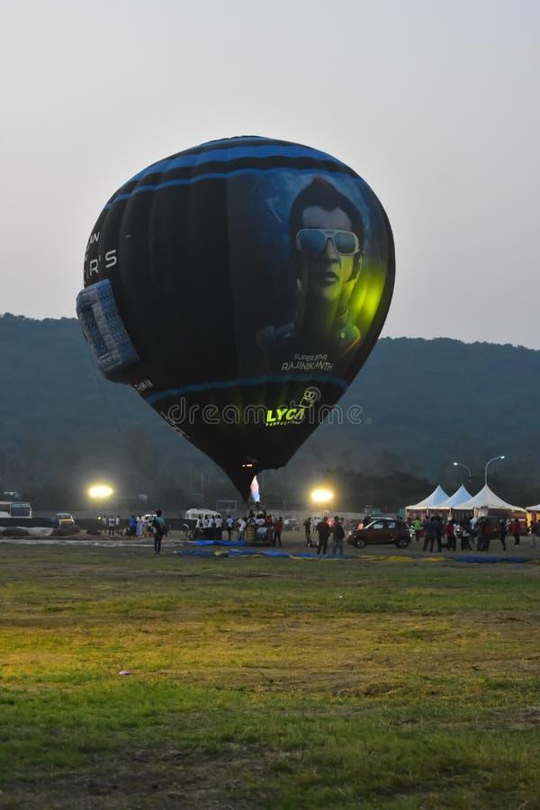 Chennai, Tamilnadu - Indien, am 6. Januar 2019: Heißluft Robo Ballon lizenzfreies stockfoto