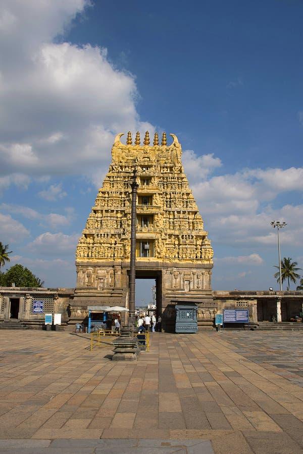 Chennakeshava świątynia, Kesava lub Vijayanarayana świątynia, Belur, Hassan gromadzki Karnataka, India obrazy royalty free