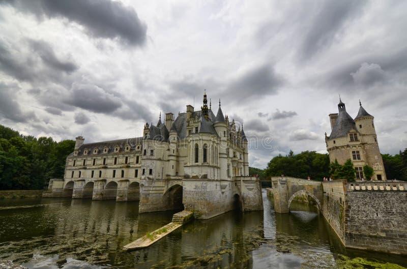 Chenonceau,卢瓦尔河地区,法国城堡  2017年6月27日快照 免版税库存照片