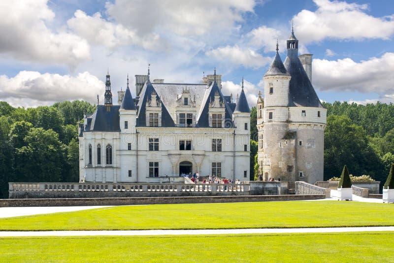 Chenonceau Замок Замок de Chenonceau, Loire Valley, Франция стоковые изображения