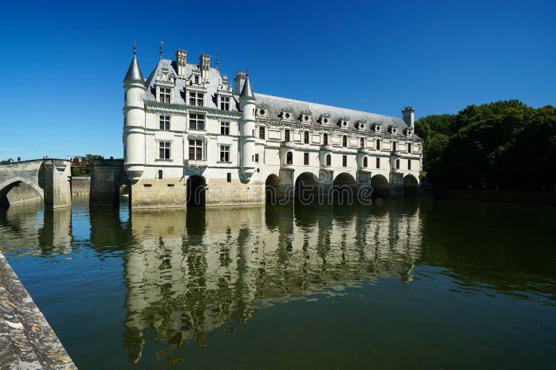 Chenonceau Castle πέρα από Cher τον ποταμό, Chenonceaux, Γαλλία στοκ εικόνες