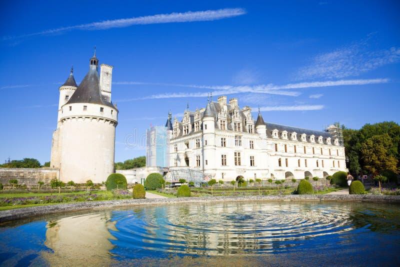 Chenonceau Chateau, Frankrijk stock foto's