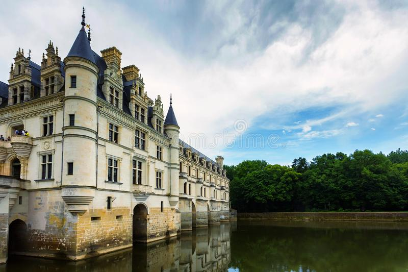 CHENONCEAU, FRANCE - CIRCA JUNE 2014: Outside view of the castle stock photography