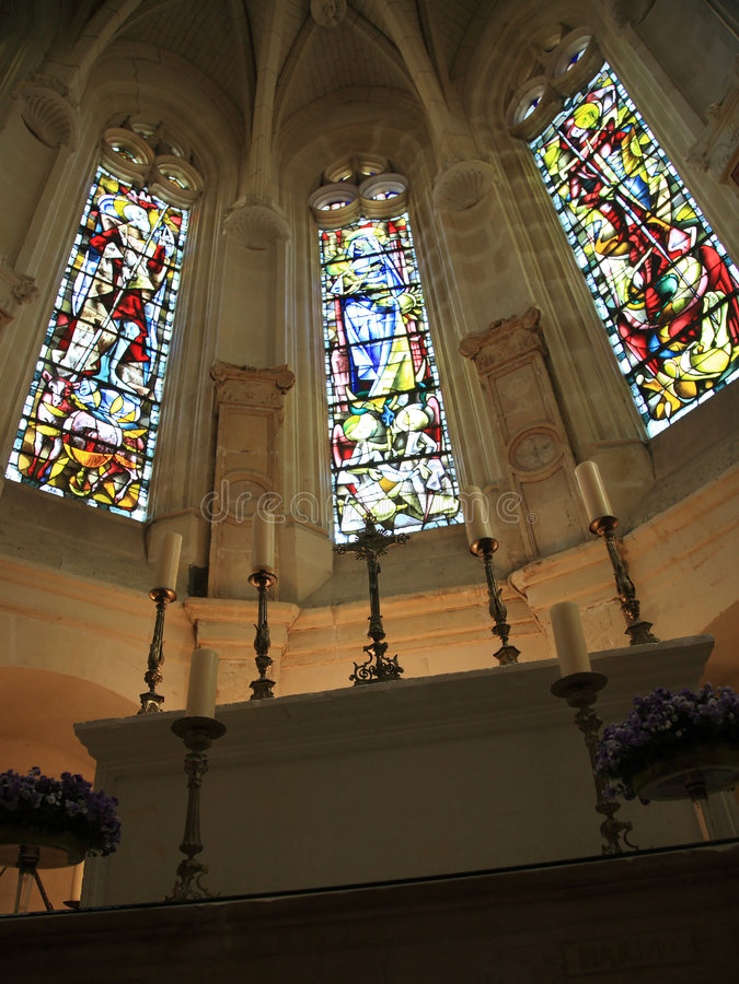 Chenonceau - Kapelle lizenzfreie stockfotografie