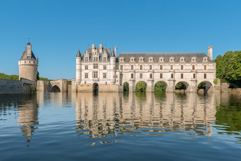 Chenonceau kasztel, Loire dolina, Francja obraz stock