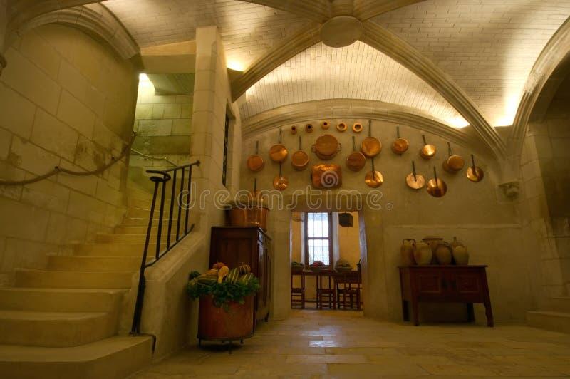 Chenonceau kasztelu kuchnia zdjęcia royalty free