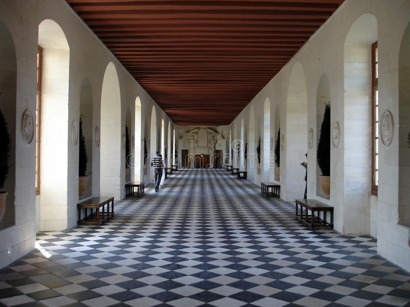 Chenonceau's gallery royalty free stock photos