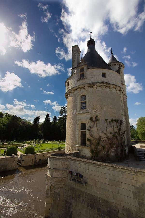 Chenonceau-Schloss stockfotos
