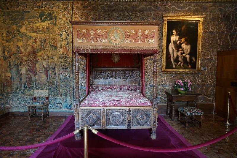 Chenonceau-Schloss-Innenraum lizenzfreie stockfotografie