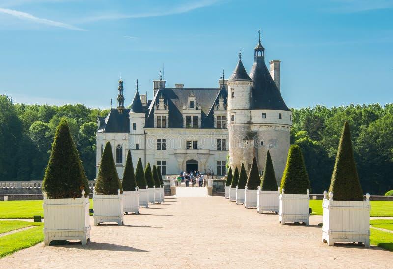 Chenonceau slott Chateau de Chenonceau, Loire Valley, Frankrike arkivbild