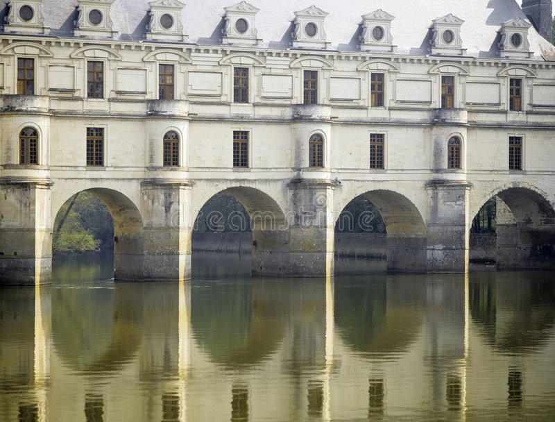 Chenonceau van Chateau royalty-vrije stock afbeelding