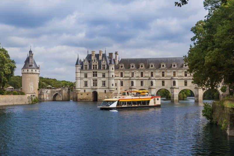 Chenonceaukasteel in de de Loire-Vallei - Frankrijk royalty-vrije stock afbeelding