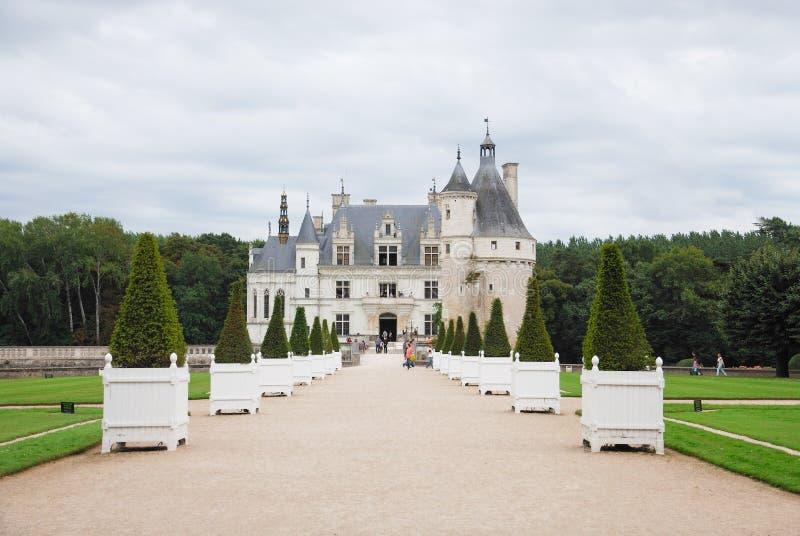 Chenonceaukasteel in de Loire-valleigebied royalty-vrije stock foto