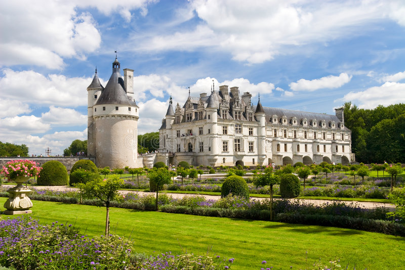 chenonceaux Франция замока стоковые фотографии rf