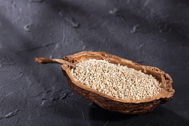 Chenopodium quinoa - White Quinoa Seeds stock photos