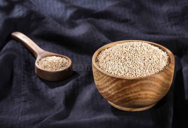 White Quinoa Seeds - Chenopodium quinoa royalty free stock image