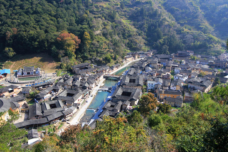 Chenqi Fujian tulou fotografia stock