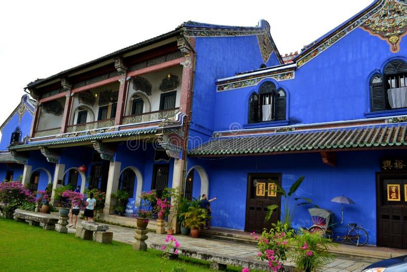 Cheong Fatt Tze - het Blauwe Herenhuis stock fotografie