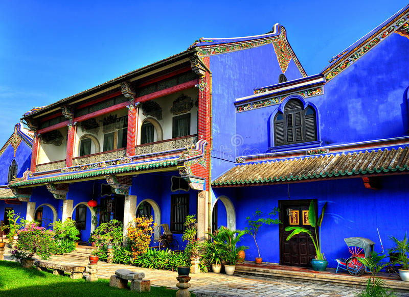 Cheong Fatt Tze Mansion stock afbeelding