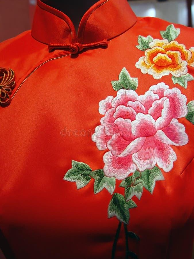 Download Cheong-sam stock photo. Image of handicraft, flowers, background - 2036362