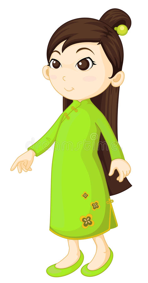 cheongsam chińczyk royalty ilustracja