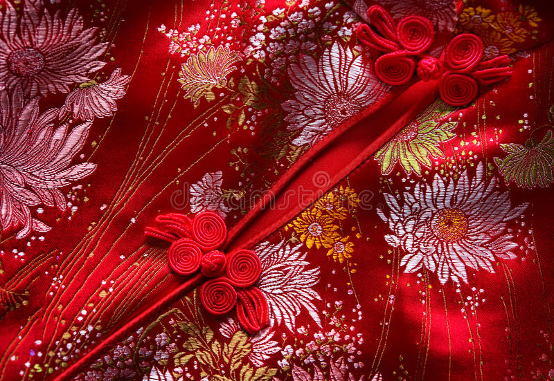 Cheongsam details royalty free stock photography