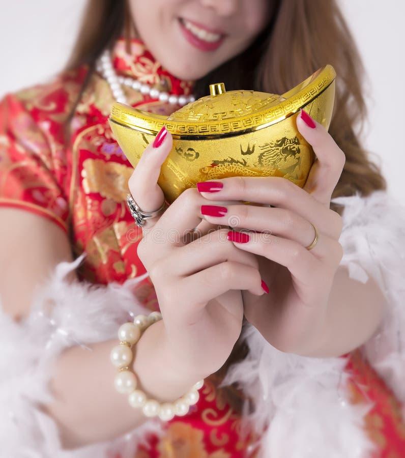 Cheongsam-Kleid stockfotos