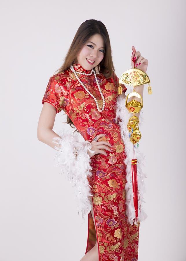 Cheongsam-Kleid lizenzfreie stockfotografie