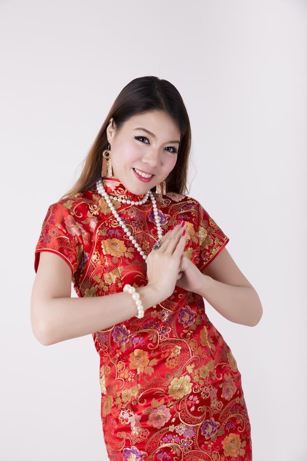 Cheongsam suknia zdjęcia royalty free