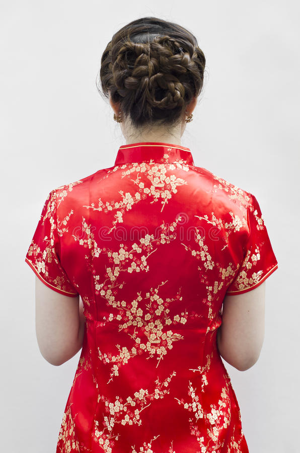 Cheongsam Worn  During New Year Day Stock Images