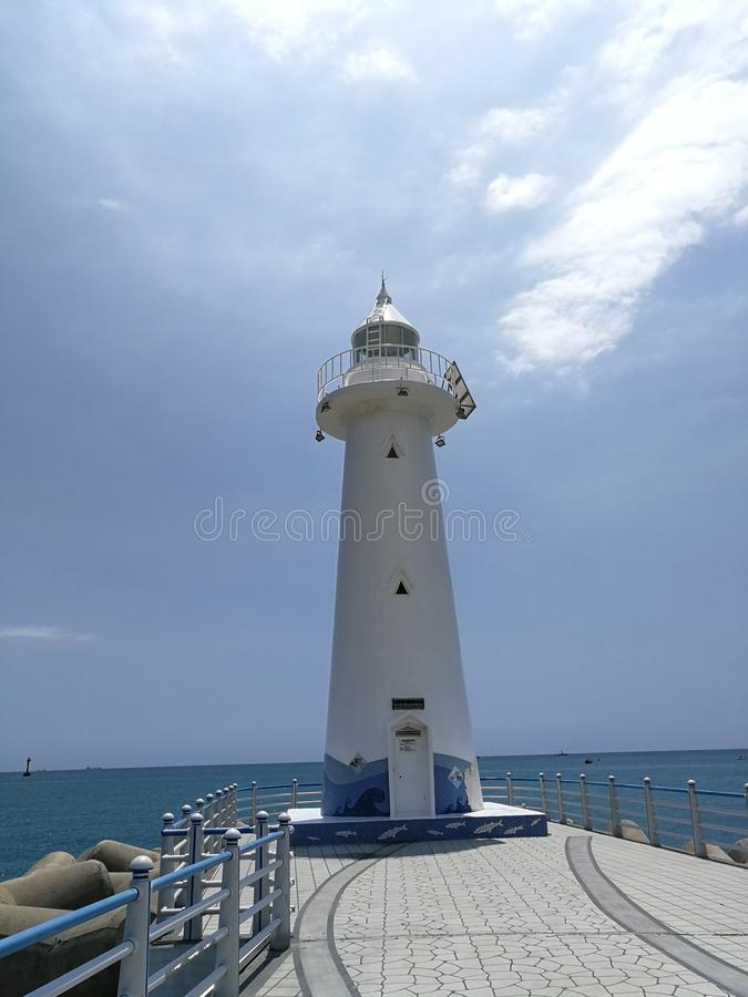 Cheongsapo Port Light House, Busan. Cheongsapo Port, situated between Haeundae and Songjeong, marks the intersection between Korea`s eastern and southern coasts royalty free stock photography