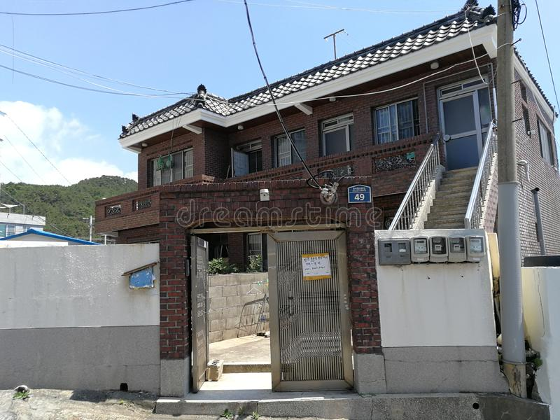 Cheongsapo Port House, Busan. Cheongsapo Port, situated between Haeundae and Songjeong, marks the intersection between Korea`s eastern and southern coasts. The stock photos