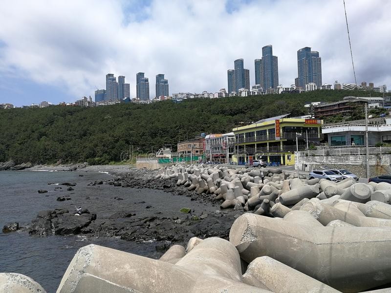 Cheongsapo Port, Busan. Cheongsapo Port, situated between Haeundae and Songjeong, marks the intersection between Korea`s eastern and southern coasts. The royalty free stock photography