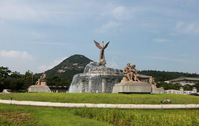 Cheongwadae, błękita dom/ fotografia stock