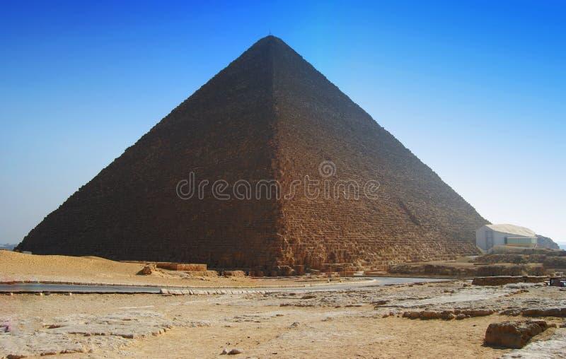 Cheops伟大的金字塔在开罗,埃及 库存图片