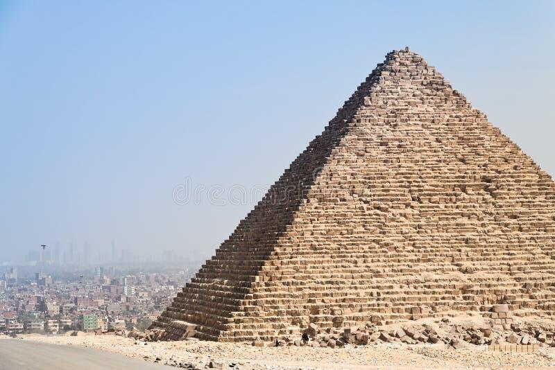 cheops chephrenpyramide埃及吉萨棉 图库摄影